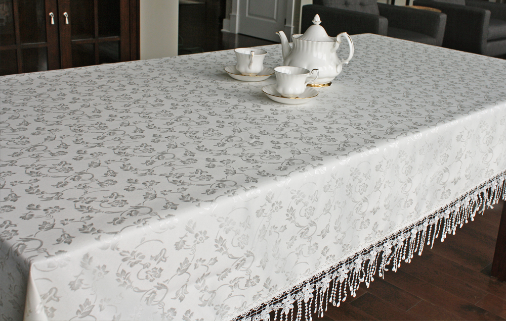 Pearl Strand Jacquard 60u2033 X 90u2033 Rectangle Tablecloth