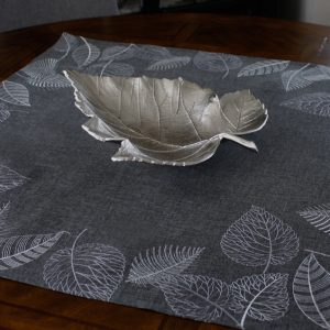 Charcoal Silver Leaves