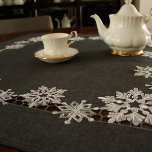 Charcoal Frosted Snowflake