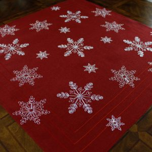 Red Frosted Snowflake